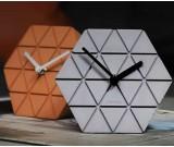 Handmade Concrete hexagonal Table Alarm Clock