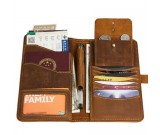 Handmade Leather Multi-Purpose Travel Wallet Card Passport Holder