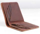 Handmade Slim Leather Wallet Credit Card Holder