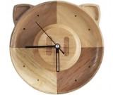 Handmade Wooden Wood Pig Wall Clock