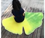 Leaf Shaped Area Floor Mat/Rug - Ginkgo Leaf