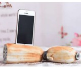 Lotus Root Style Ceramic Speaker Sound Amplifier Stand Dock for SmartPhone