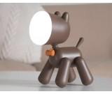 USB Lovely Dog Rechargeable  Night Light Children Bedroom Decor LED Lamp