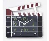 Movie Film Action Board Wall Clock