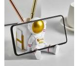 Cute Little Astronaut Office Pen Holder Desktop Decoration Phone Holder