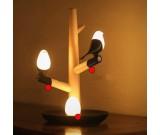 USB Songbird & Egg Night light on Wood Branch