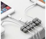 Silicone Multipurpose Wire Organizer Desk Cable Cord Clips