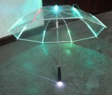 Transparent LED Light up Flashlight Umbrella