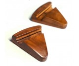 Black Walnut Wood Triangle Portable Smartphone Holder