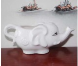 White Ceramic Elephant Shaped Tea Mug