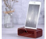 Wood Cell Phone Stand Dock with Sound Amplifier Amplifier