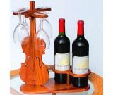 Wood Wine Glass Holder Rack Wine Glass Hanging Drying Stand Organizer