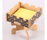 Wooden Memo Pad Note Holder