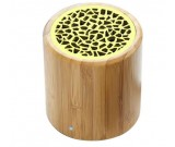 Bamboo Cylinder Portable Bluetooth Speaker