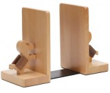 Wooden Horse Bookends with Coins slot- 1 Pair