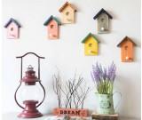 Wooden House Wall Hooks Coat Hat Hangers- Set of 2 -