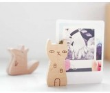 Wooden Miniature Animal Place Card Holders Photo Card Holders,Set of 4