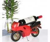 Wooden Motorcycle Wine Bottle Holder ( Red)