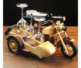 Wooden Motorcycle Wine Bottle Holder
