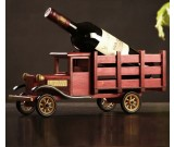 Wooden Truck Wine Bottle Holder