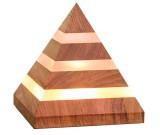 Wooden  Pyramid USB  Desk lamp