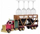 Wooden Trailer Truck  Wine Bottle Holder