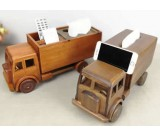 Handmade Wooden Truck Tissue Box