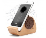Wooden Whale Shaped Bluetooth Speaker Mobile Display Stand