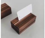 Pure Wood Black Walnut Office Business Card Holder Wooden Pen Holder