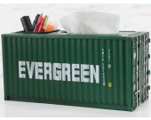 Handmade Metal Shipping Container Model Desk Office Supplies Organizer,Tissue Box