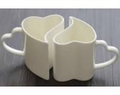 1 Pair Love Hearts Ceramic Mug Cup