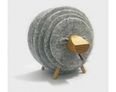 13 PCS Wool Felt Coaster Set with Wood Holder