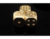 13mm Solid Brass  6 Sided  Dice  5 in 1 Set In A Box