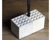 Cube 16 slots Multi-Functional Concrete Pen Pencil Stand