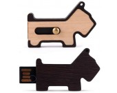 16G Wooden Dog USB Flash Drive