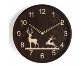 Beautiful elk christmas festival decoration wooden wall clock