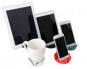 2pcs Silicone Coaster Cell Phone iPad Stand Holder