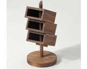 3 Tier Wooden Office  Desk Organizer,Black walnut