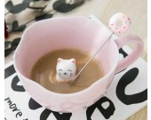 3D Cute Lovely Cartoon Miniature Animal Figurine Ceramics Coffee Cup