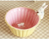 3D Rabbit  Figurine Decorative  Fruit Salad Bowl