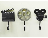 3Pcs Film Action Scene Art Coat Hook Wall Hangers