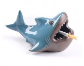 Creative Marine Style Ferocious Shark Ceramic Ashtray