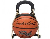 Creative basketball shape round handbag shoulder bag