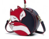 Cute cartoon little fox girl travel round shoulder bag fox bags