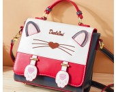 Cute cartoon cat fashion handbag beautiful shoulder bag