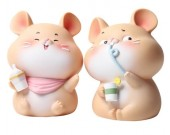Cute cartoon little mouse change piggy bank Children gift idea