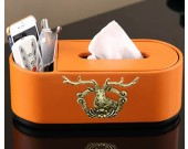 Exquisite fashion elk decoration tissue box remote control storage box
