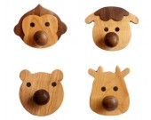 Cute cartoon small animal home wooden wall hook
