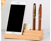 Brief multifunction wooden mobile phone holder pen holder business card case