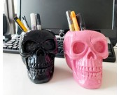 Personalized punk style skull pen holder storage holder